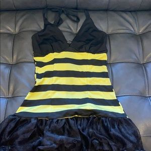 BOGO Sexy Bumble Bee Costume Small Black Yellow